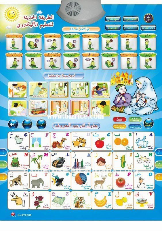 New Style Arabic Learning Chart for Children Education from - spanish alphabet chart