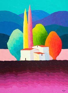 Sveta Esser | Originals on Canvas | Hillside Delight | Smart Publishing