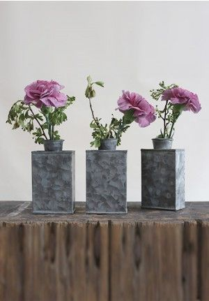 Decorative Vases Tin Vase Vase Set New House Pinterest