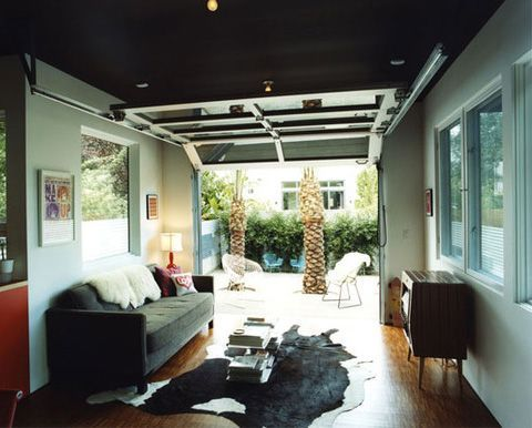 Image result for 1 car garage conversion to hangout space ...