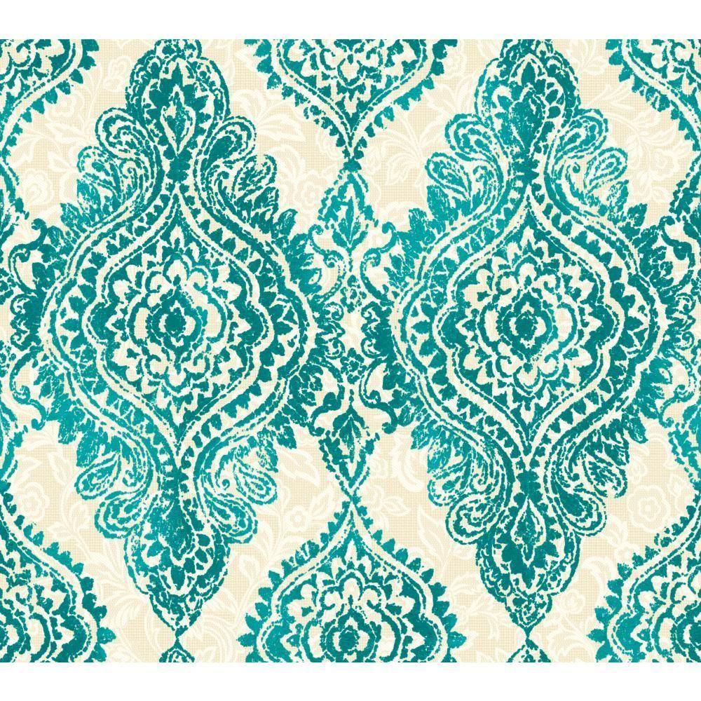 Interior Place Aqua WH2709 Boho Chic Wallpaper, 36.67