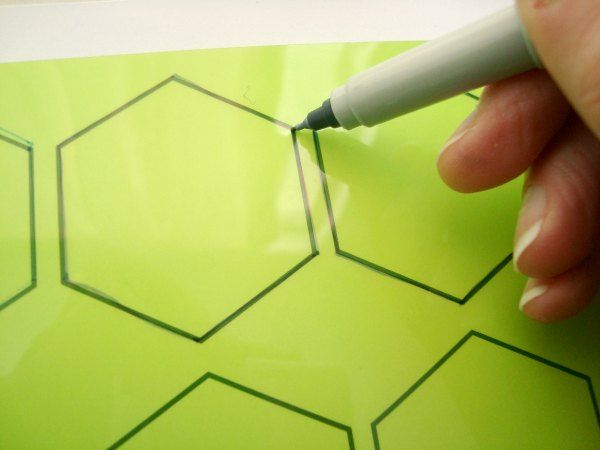 Template Plastic For Quilting | How To Make Your Own Plastic Hexagon Template Template Hexagon