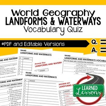 Landforms and waterways vocabulary quiz geography assessment landforms and waterways quiz geography assessment geography map quiz geography assessment geography test gumiabroncs Gallery
