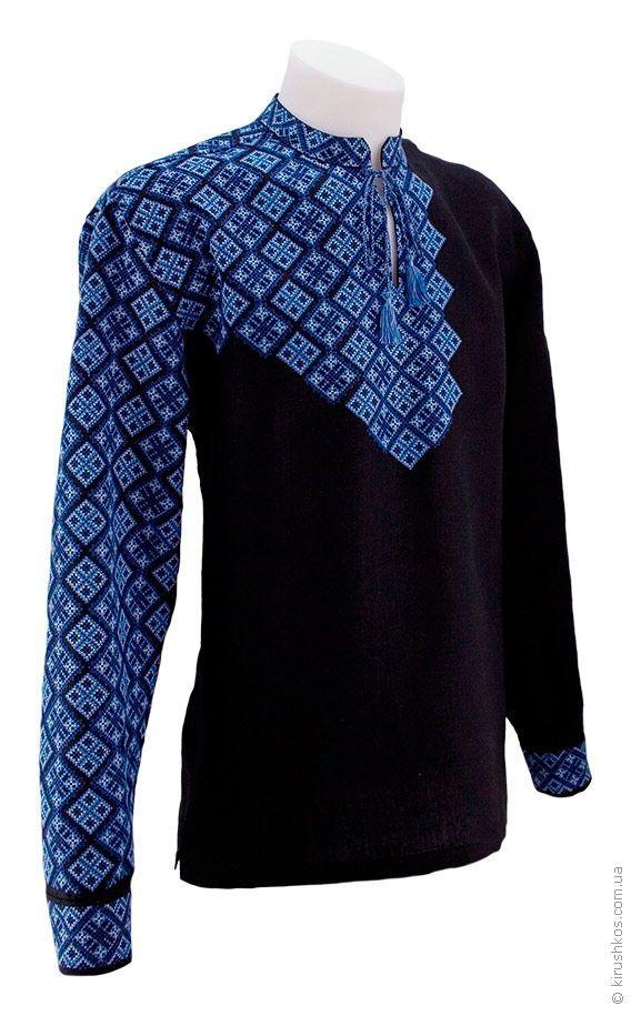 Екстравагантна чорна вишиванка з повністю розшитим рукавом - Товари -  Замовити чоловічі 3cc0d76dd881b