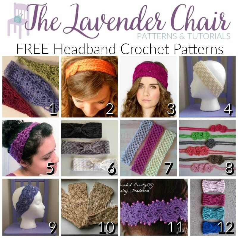 Free Headband Crochet Patterns Crochet Pinterest Headband