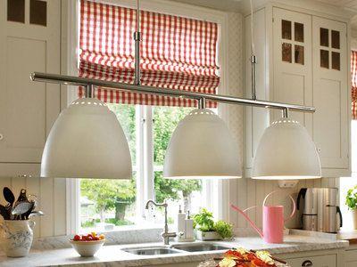 Suspension barre 3 lumières en métal chromé longueur 70.5cm Skarhamn - SALLE A MANGER - checker longueur du câble
