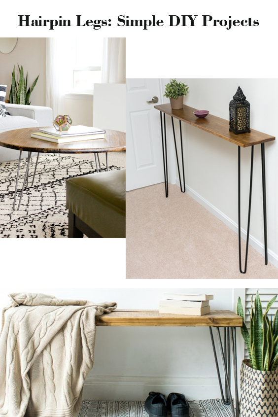 Hairpin Legs Simple DIY Furniture Projects Diy