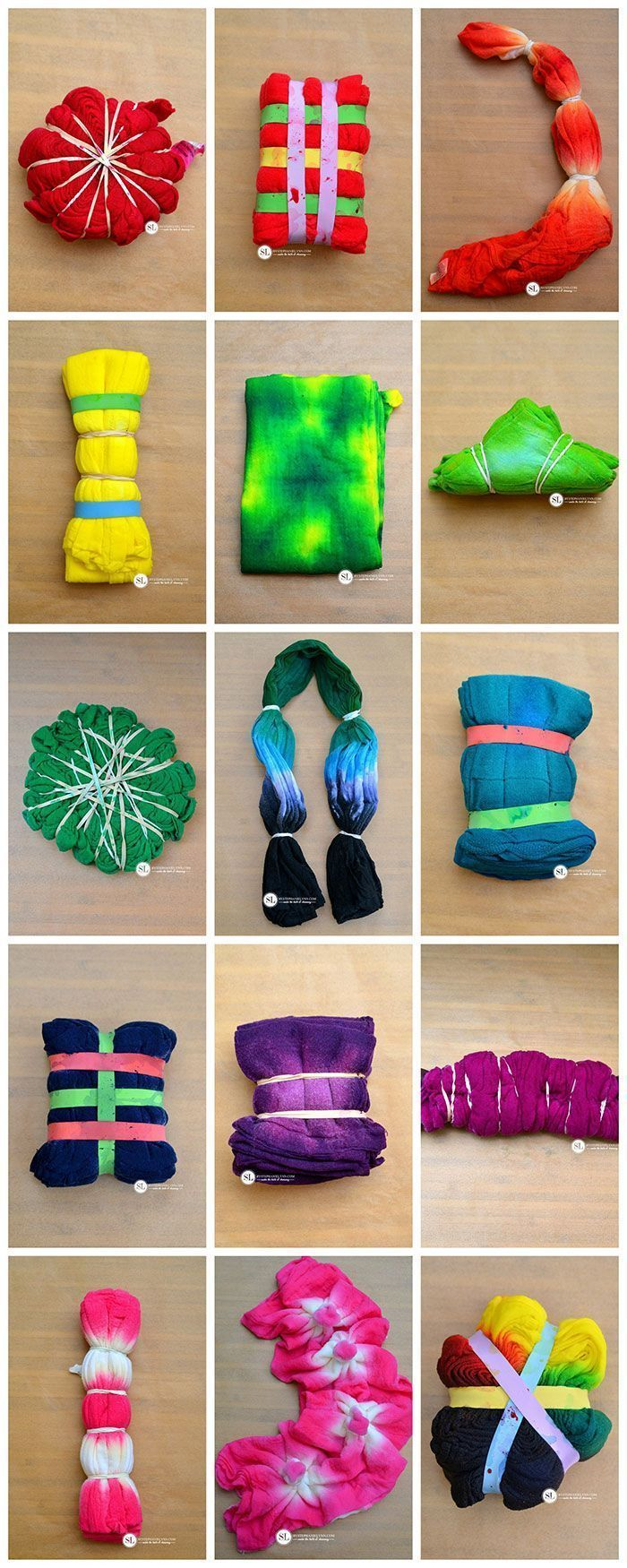 Teinture Tissu Tie Dye Folding Techniques Must Try Pinterest Teinture