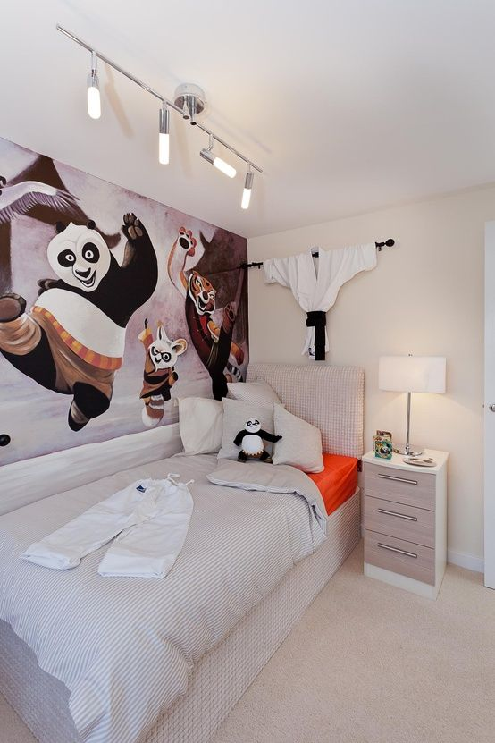 The Oakhurst Single Bedroom With Kung Fu Panda Motif At Mandale Park Thornaby