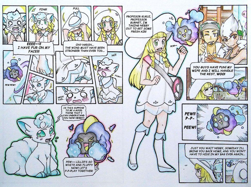 Lillie S Alolan Vulpix Tf By Fezmangaka Deviantart Com On Deviantart Alolan Vulpix Pokemon Fan Art Pokemon Comics