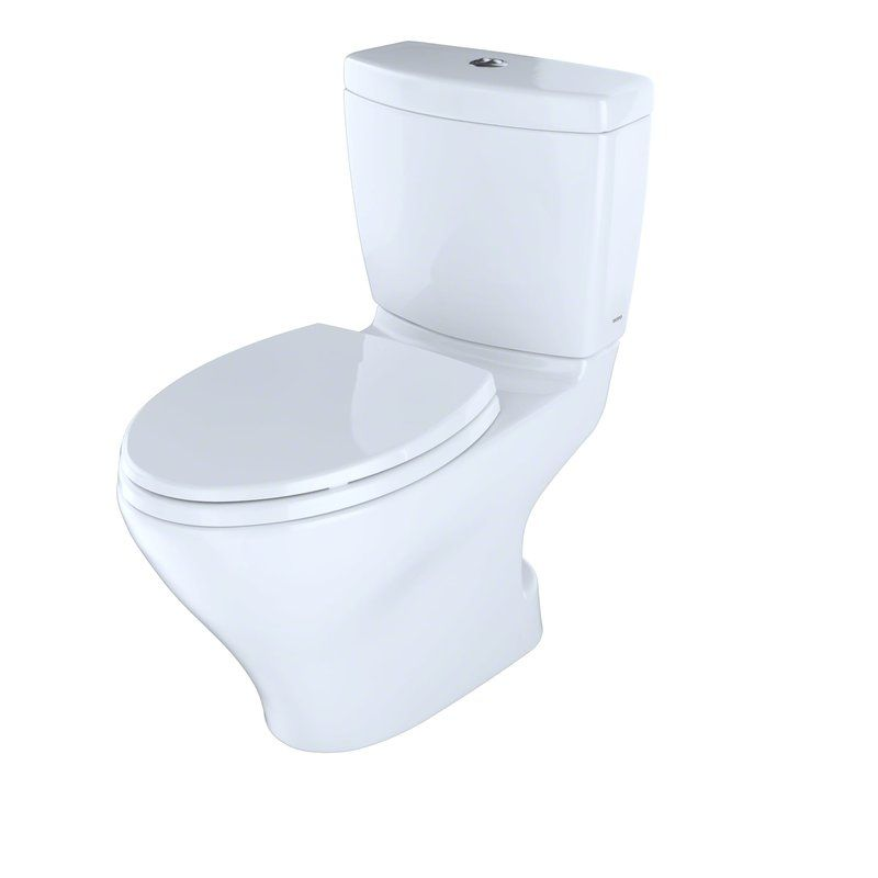 St Tropez Dual Flush Elongated One Piece Toilet Seat Included Toilet For Small Bathroom Bathroom Toilet