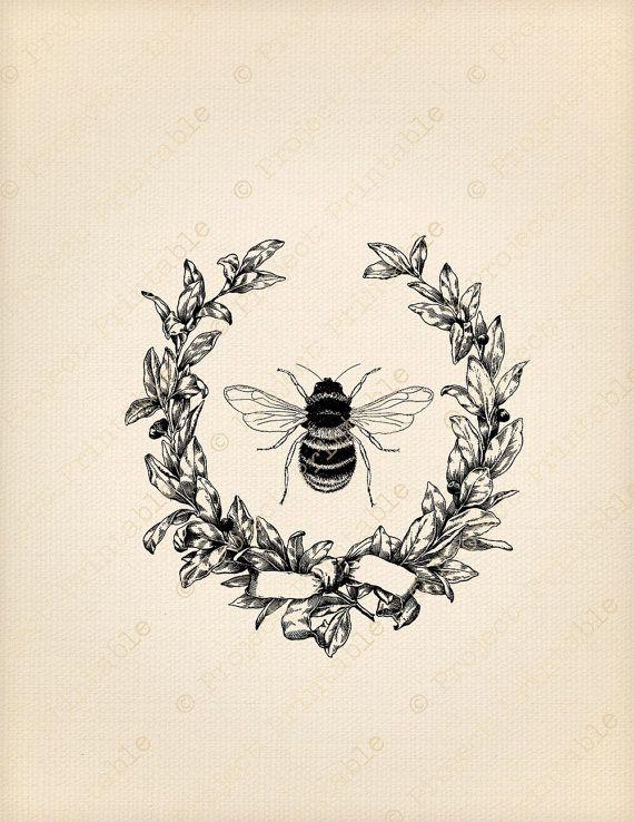 vintage bee clip art - photo #21