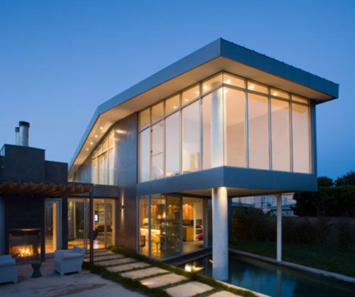 Shipping container house with nice pool house ideas for Beach box house plans