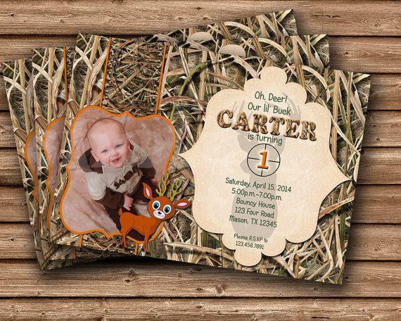 Printable Photo Camouflage Birthday Party Invitation Camo – Hunting Party Invitations