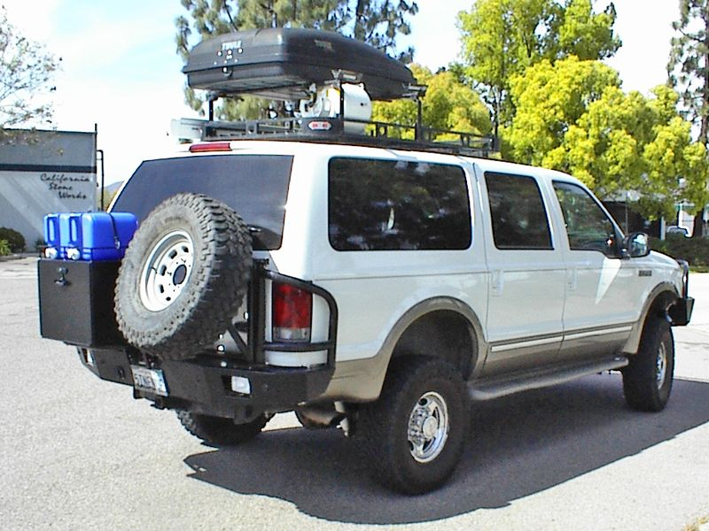 Aluminess Ford Excursion Off Road Rear Bumper Ford Excursion