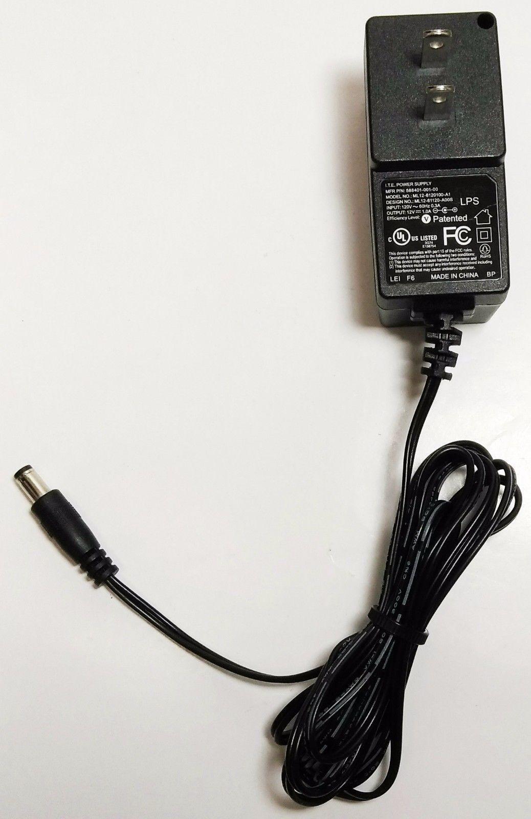 New   ITE 12V 1A Power Supply ML12-6120100-A1 588401-001-00