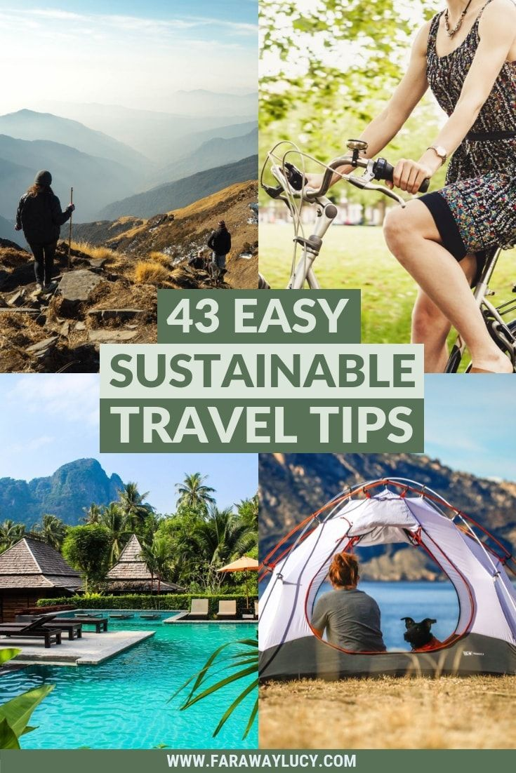43 Easy Sustainable Travel Tips That Will Save the World | Faraway Lucy