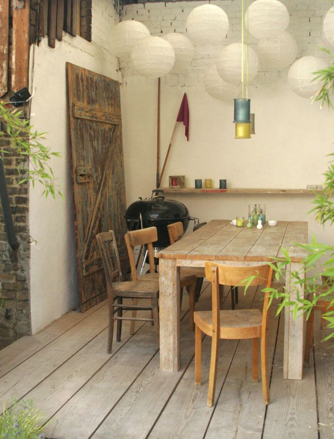 esszimmer im hof interior interiorideas einrichtung einrichtungsideen deko decoration - Landhaus Einrichtung Deko