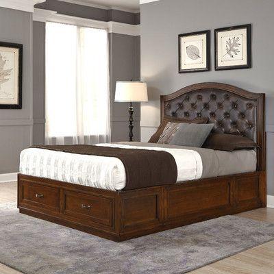 Desoto Upholstered Storage Standard Bed Platform Bed Bed Furniture