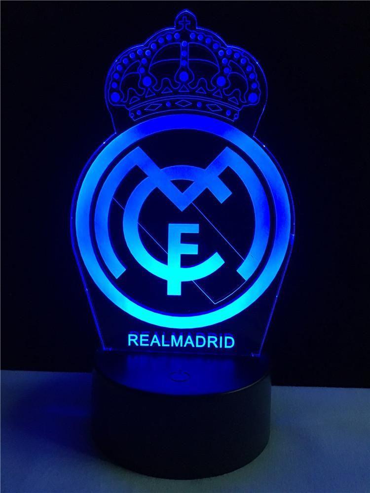 Real Madrid Logo Logo Touch 3d Colorful Nightlight Lamp Imagenes De Real Madrid Fondos De Pantalla Real Madrid Fondos Del Real Madrid