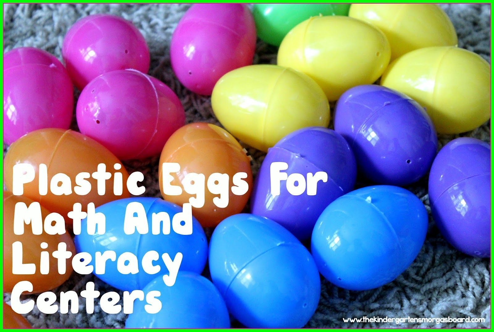 Plastic Eggs Math And Literacy Centers