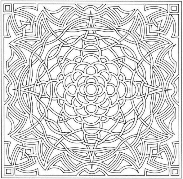 Difficult Optical Illusion Coloring Pages For Older Kids Enjoy Coloring Abstract Coloring Pages Geometric Coloring Pages Mandala Coloring Pages