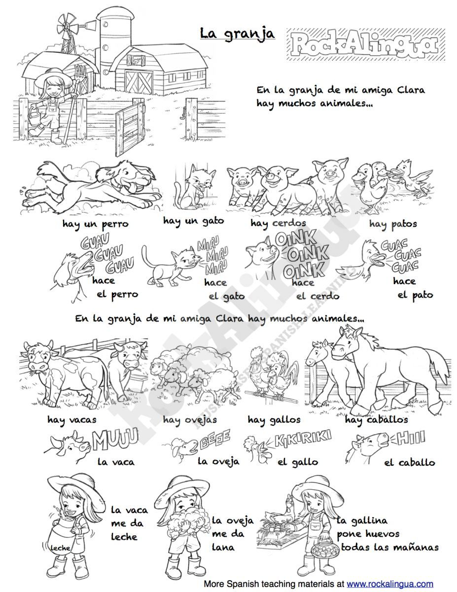 worksheet Cuantos Hay Worksheet la granja animals song and worksheet there is a video to go with with
