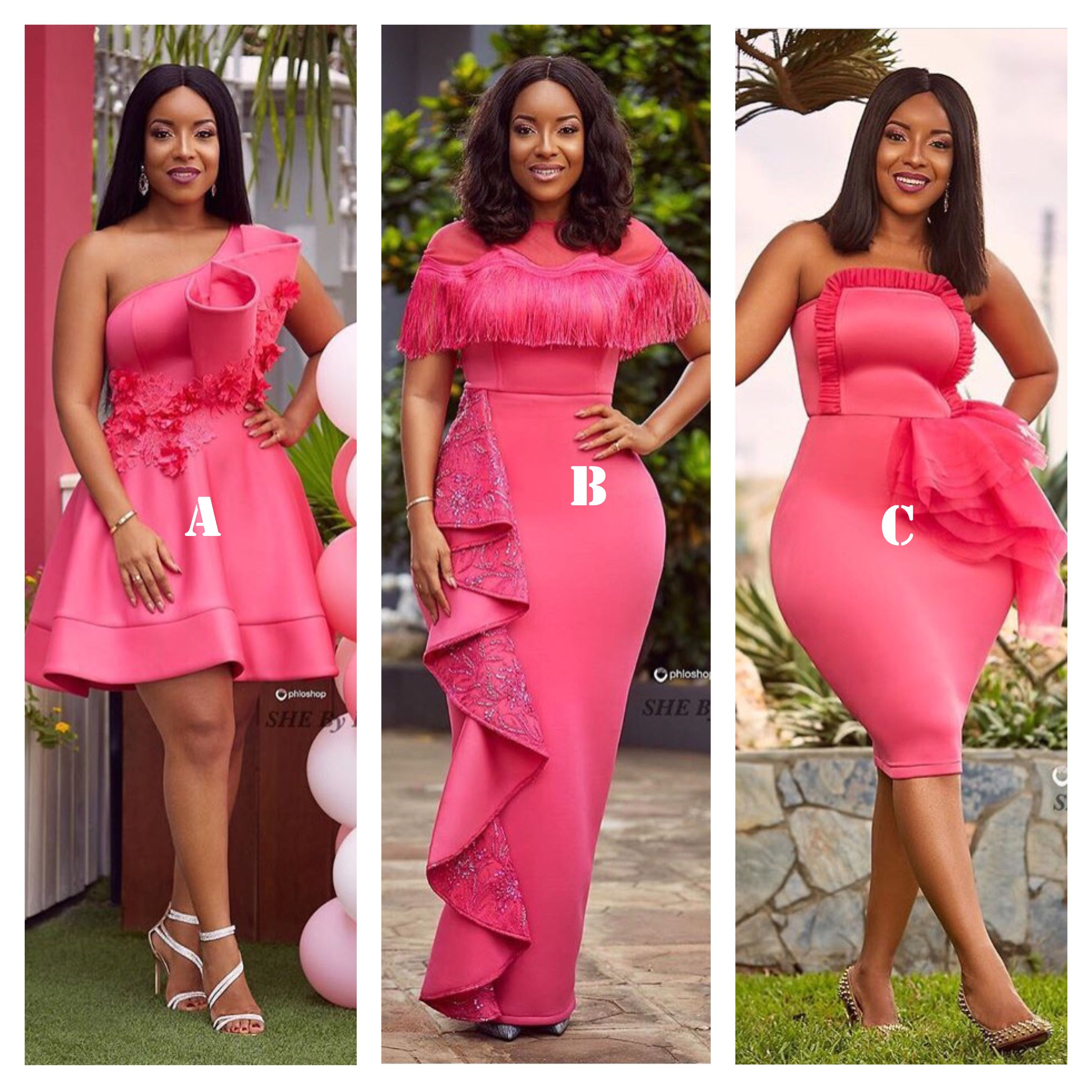 Ghanaian Actress, Joselyn Dumas Looks Stunning in Pink Dresses ...