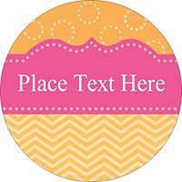 free avery templates pink with orange dotted circles print to