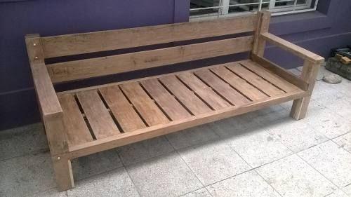 Fabricacion de sillones de lapacho reciclado cosas para for Sillones de jardin de madera