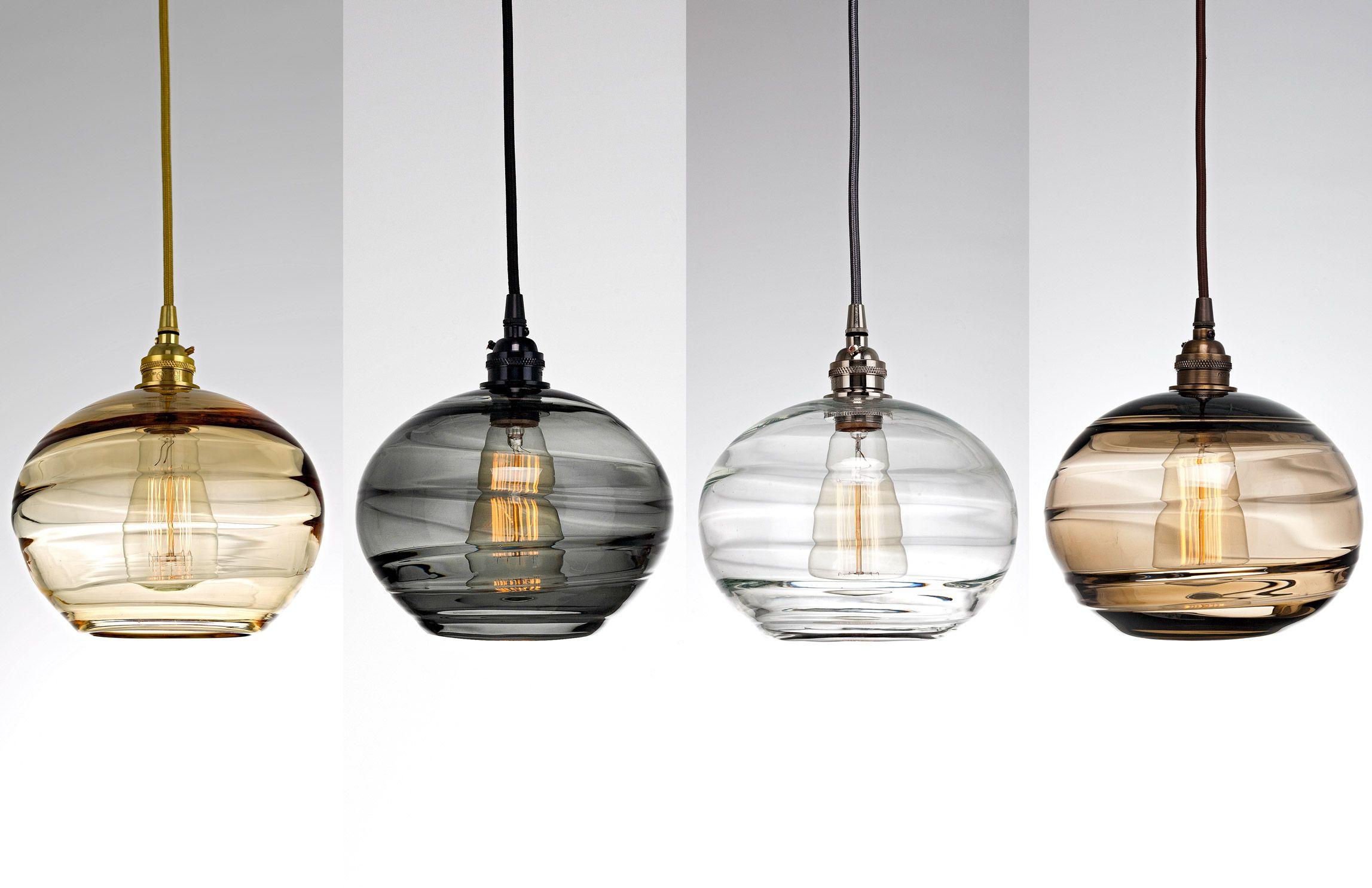 Coppa Hand Blown Glass Lighting By Hammerton Studio Blown Glass Lighting Hand Blown Glass Lighting Glass Pendant Light