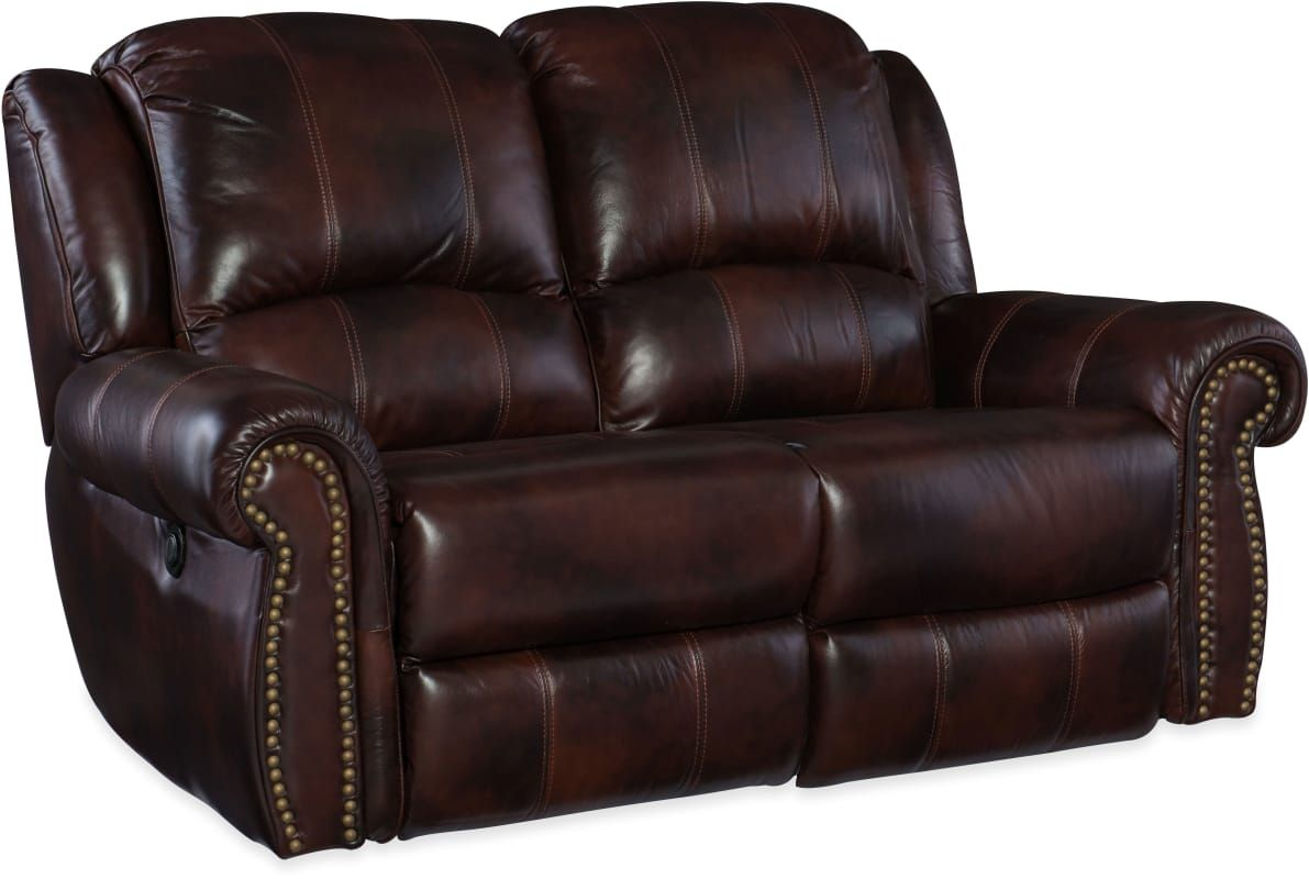 Hooker Furniture Ss611 Pr 02068 65 Inch Wide Leather Loveseat From