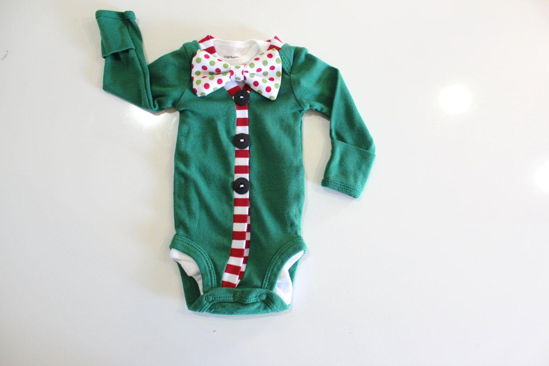 Christmas Baby Bow Tie Cardigan Green cardigan sweater Newborn boy