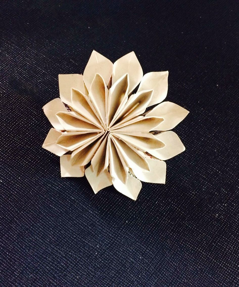 DIY origami flower Dahlia!!