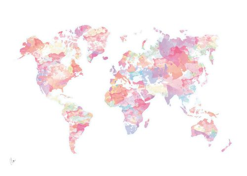 Travel Colorful And World Image On We Heart It Gold Wallpaper Background World Map Wallpaper Imac Wallpaper