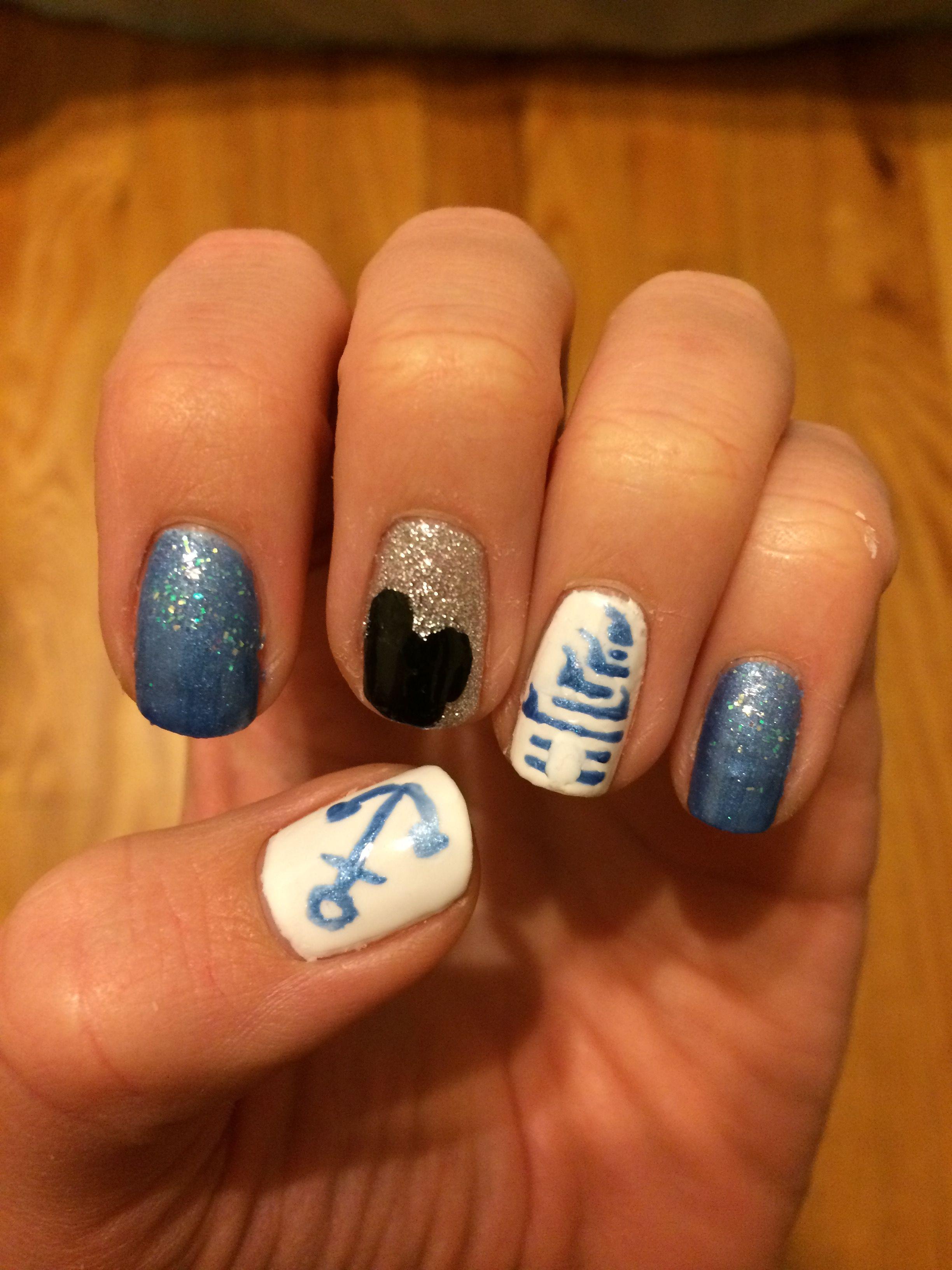 Disney Nails Disney Cruise Nail Design My Nails Pinterest