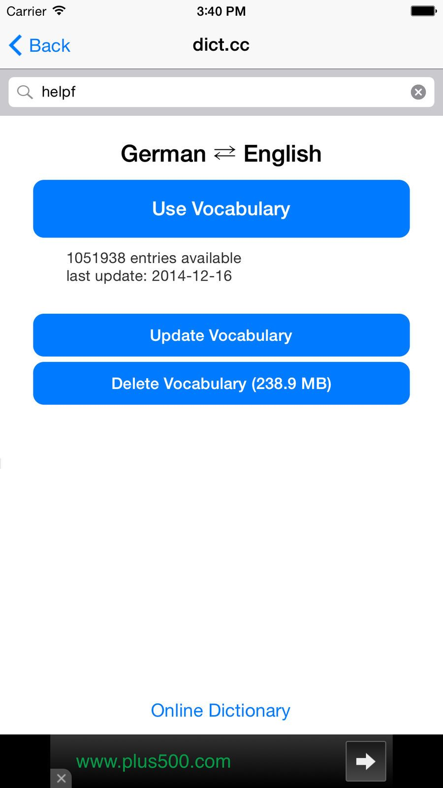 dict.cc Dictionary EducationReferenceappsios 3d