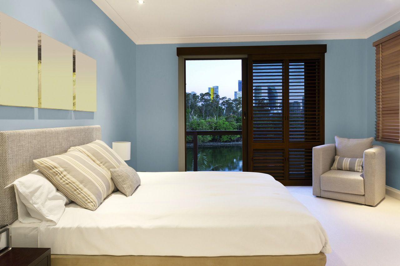 Tempaint Removable Peel And Stick Wallpaper Seattle Blue Tempaint Modern Master Bedroom Bedroom Design Home Decor