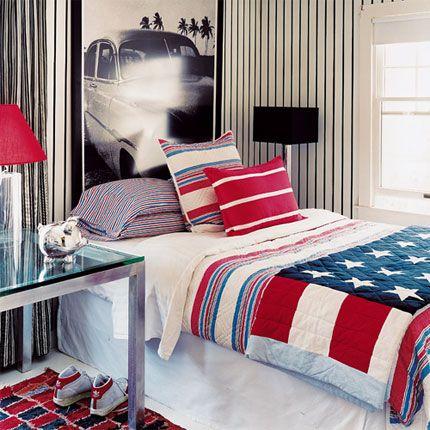 chambre ado garon 16ans tapisserie meuble