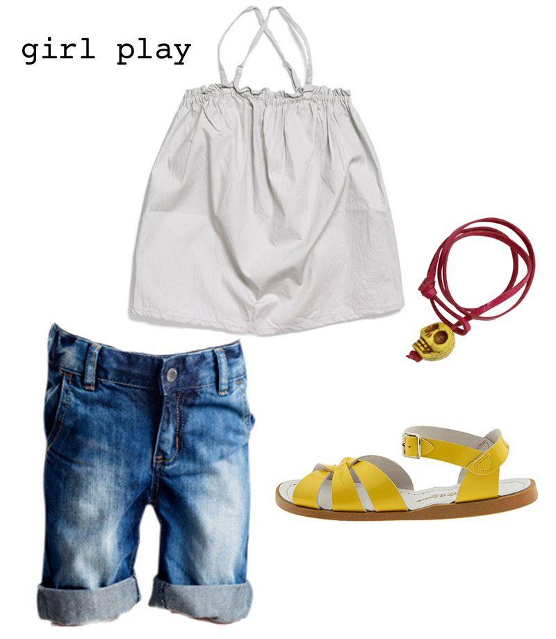 girl play - hipkin  #idigdenim #tuss #saltwatersandals