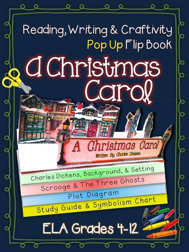 A christmas carol literature guide reading writing pop up flip book ccuart Choice Image