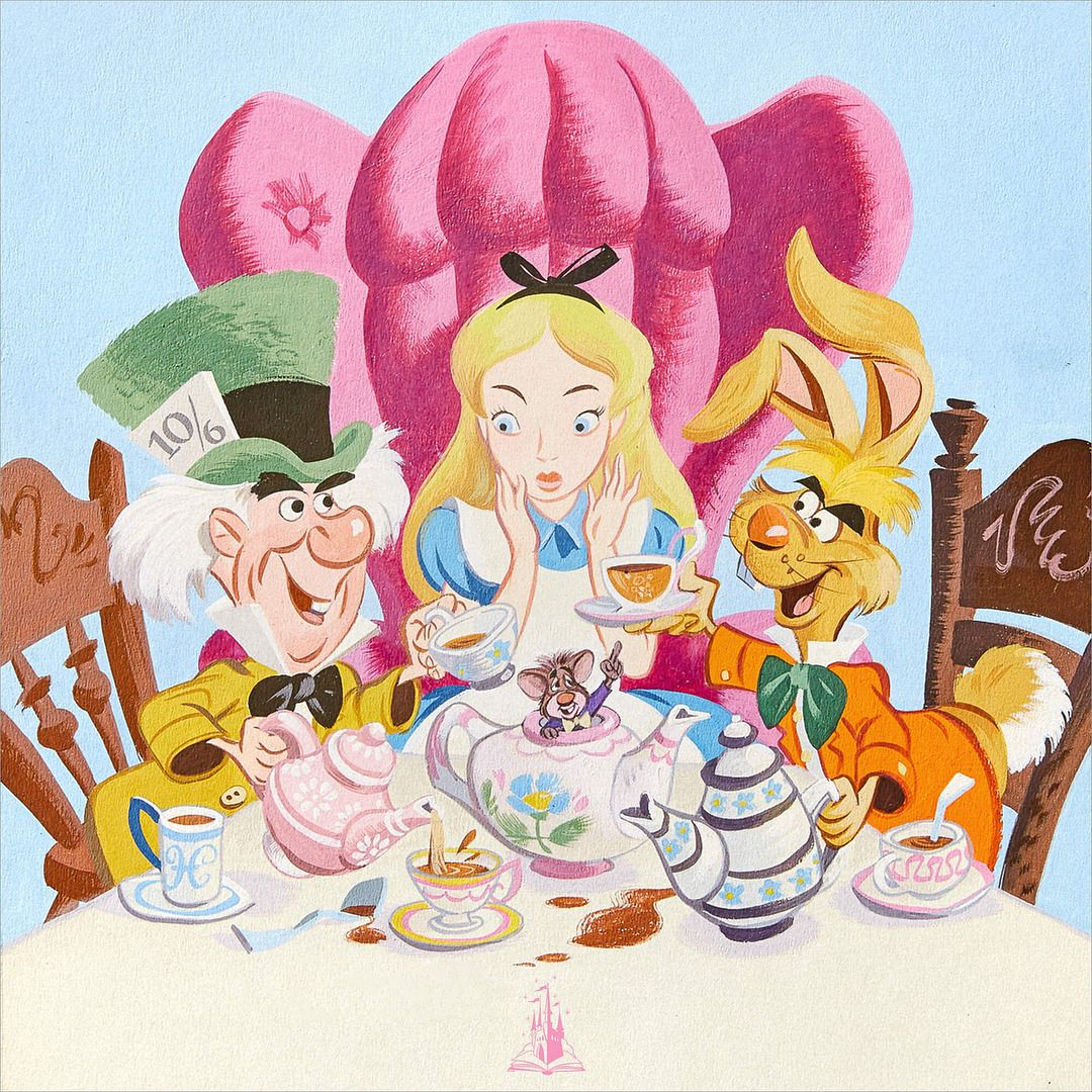 Mad Tea Party Alice In Wonderland Disney Art Alice In