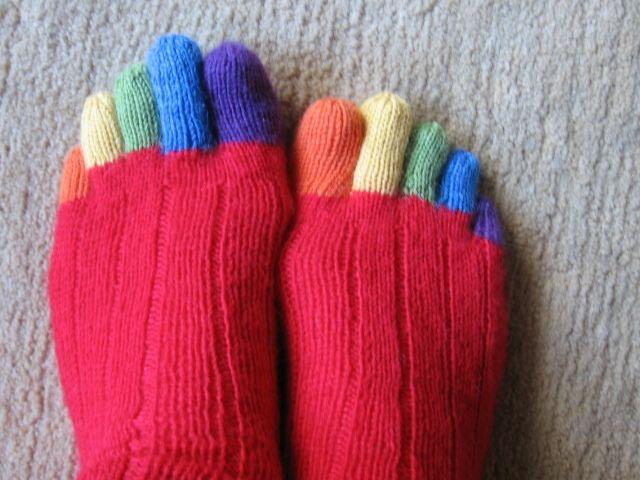 handgestrickte10 Zehen-Socken Wollstrümpfe | Socken stricken ...