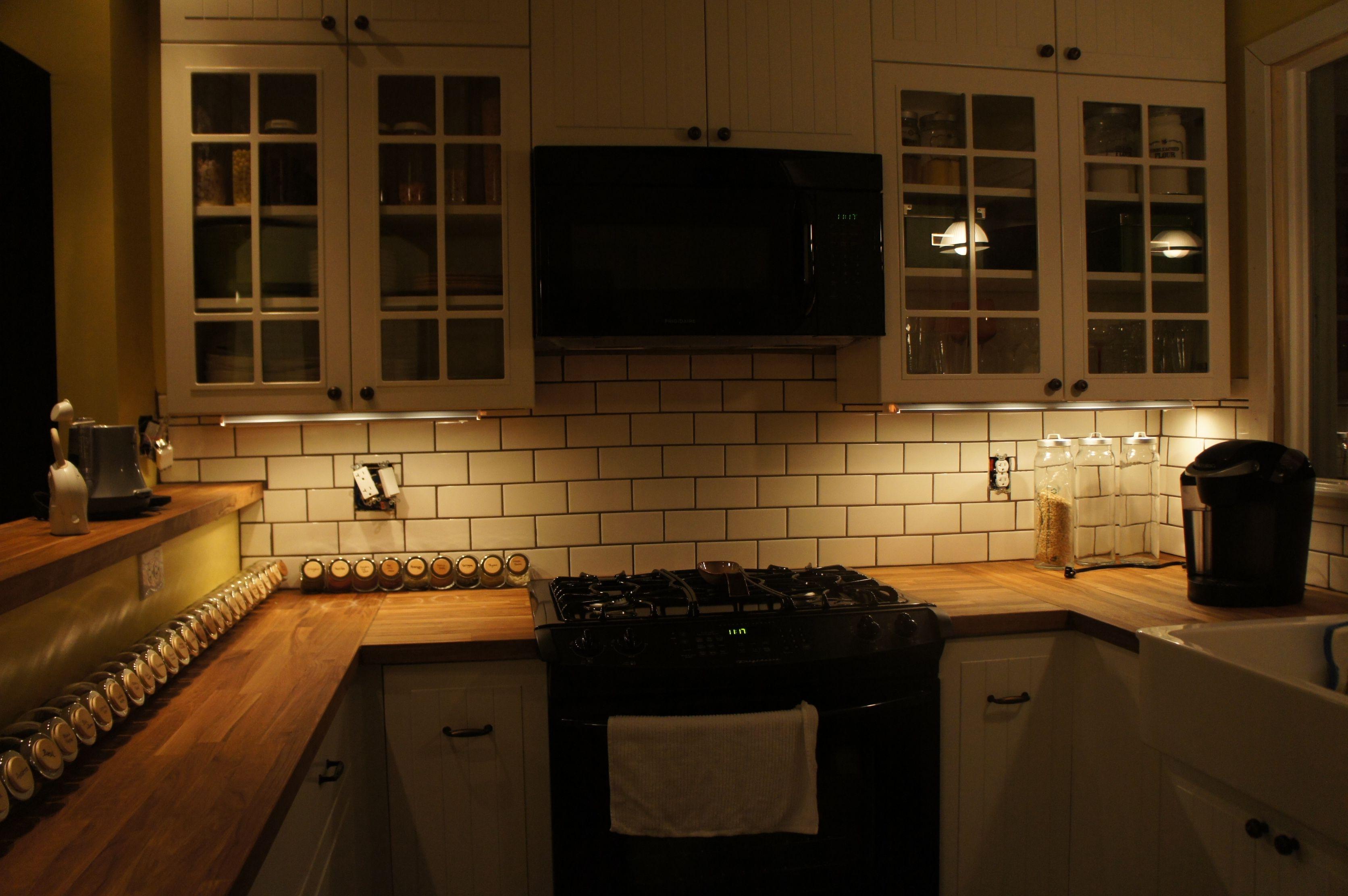 Ikea Cabinets Butcher Block Countertops Xenon Under Cabinet Lights Trendy Kitchen Tile Kitchen Layout Kitchen Designs Layout