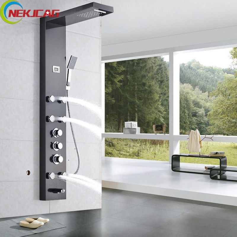 Thermostatic Stainless Steel Wall Mounted Tower Shower Column Panel ...