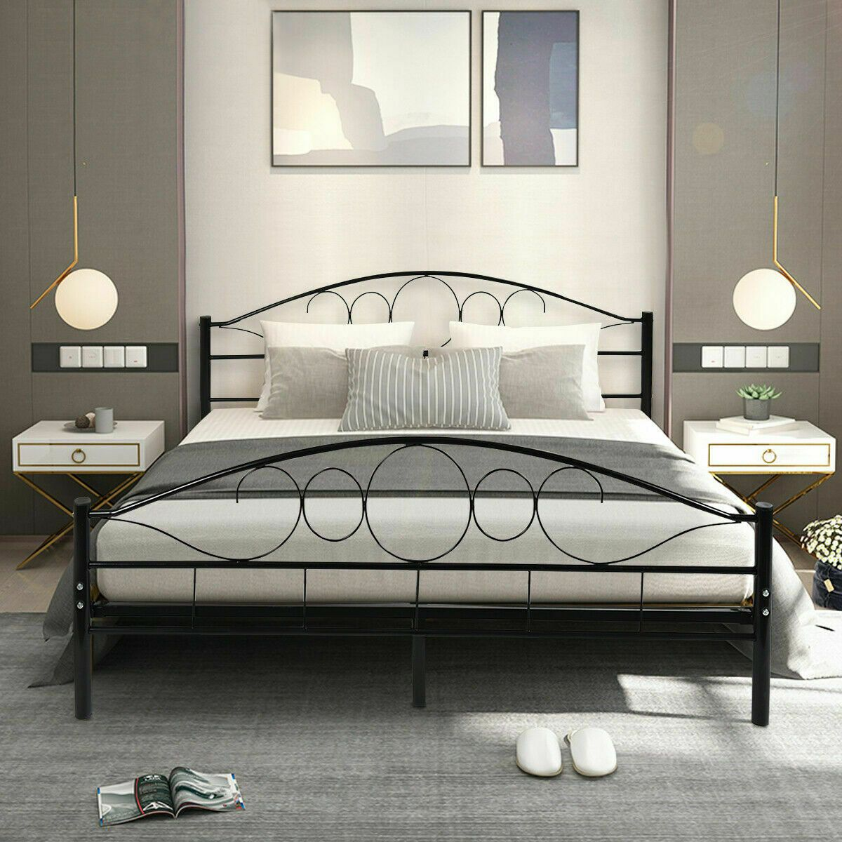 Pin By Marni Stratton On House Ideas In 2020 Steel Bed Frame
