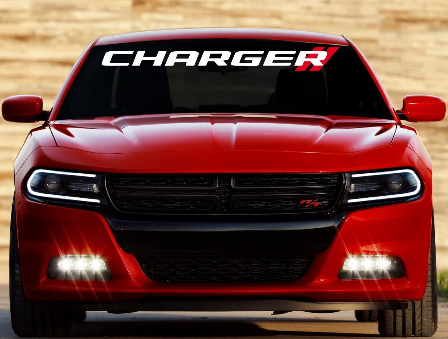 Custom Dodge Charger Double Stripe Windshield Decal