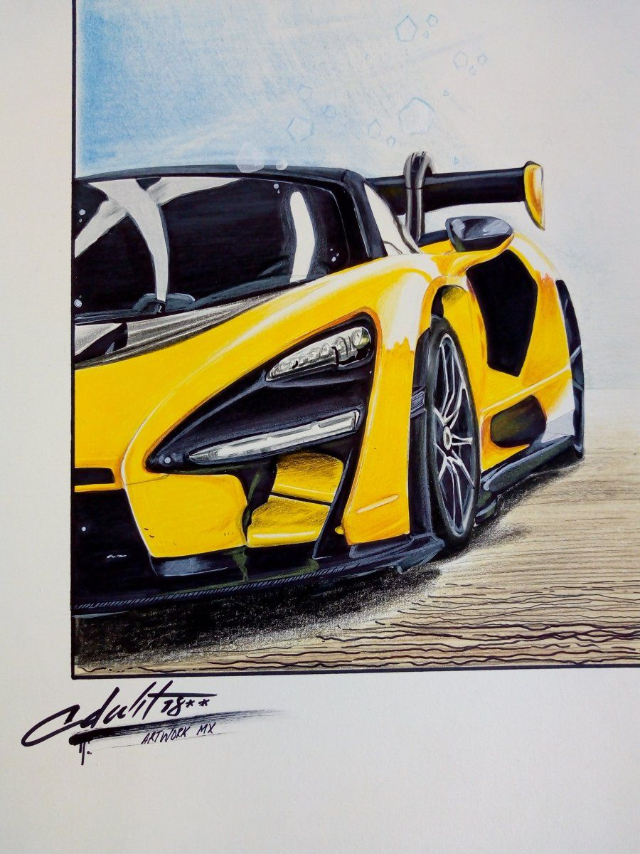 Mclaren Senna 2018 Car Drawings Sports Cars Lamborghini Car Design Sketch