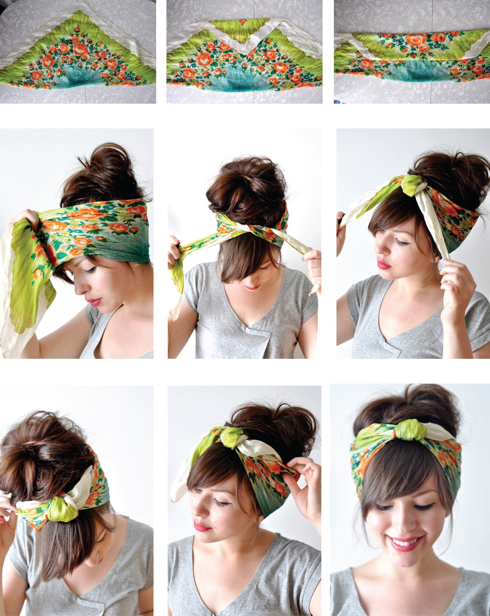 Pin by Helga Zambrana on pelitos   Hair styles, Scarf hairstyles ...