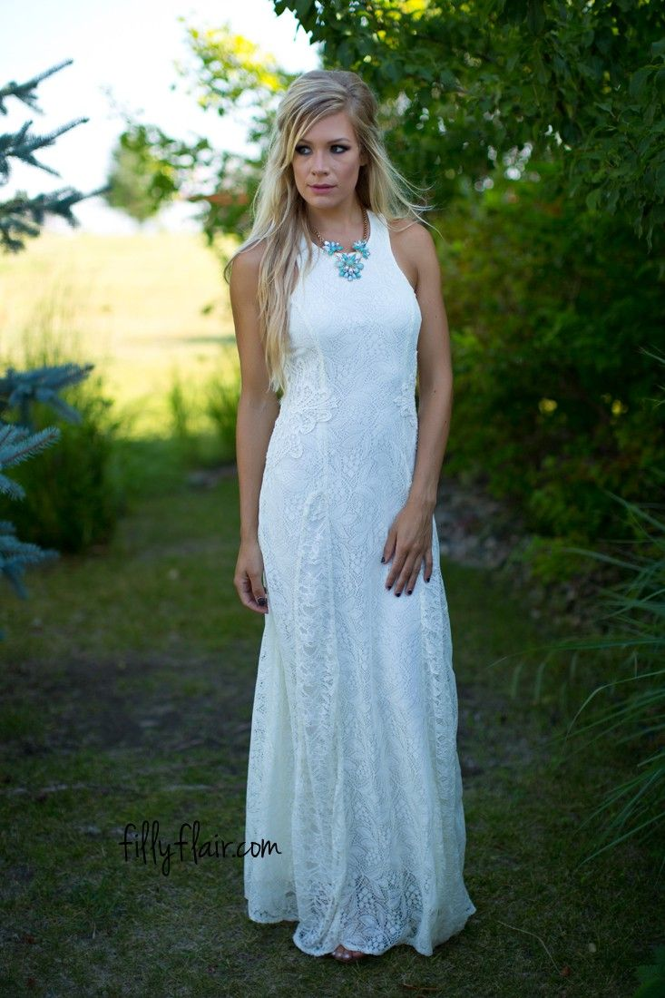 Cream dresses for weddings  Mesmerize Me Lace Maxi Dress in Cream  Dresses  Everyday Dresses